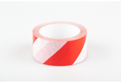 Red White Hazard Safe Distance Floor Marking Tape 48mm X 33m